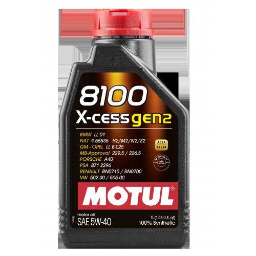 MOTUL 8100  X-CESS GEN-2  5W-40 (1) LL-01
