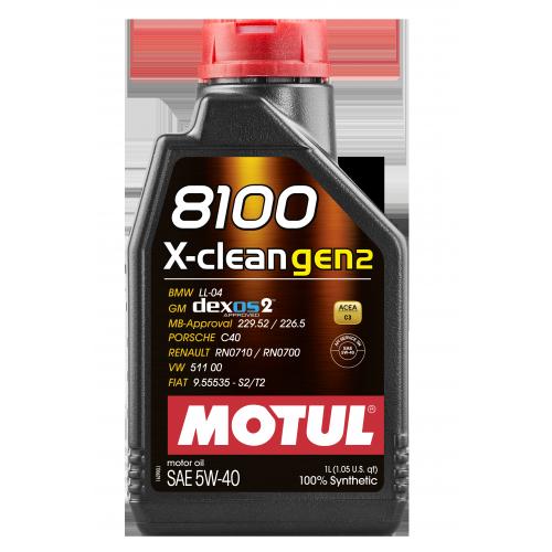 MOTUL 8100 X-CLEAN GEN2 5W-40 1л