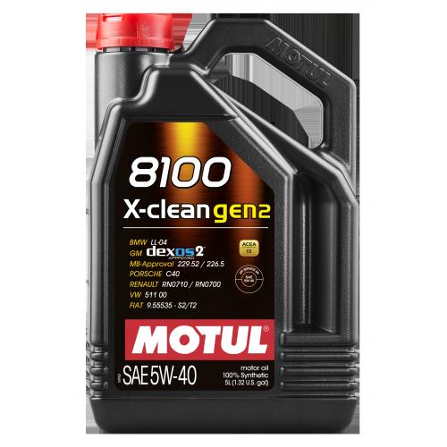 MOTUL 8100 X-CLEAN GEN2 5W-40 5л