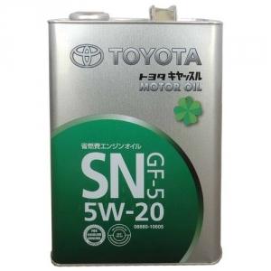Моторное масло TOYOTA полусинтетическое SN 5W-20 (5л.)