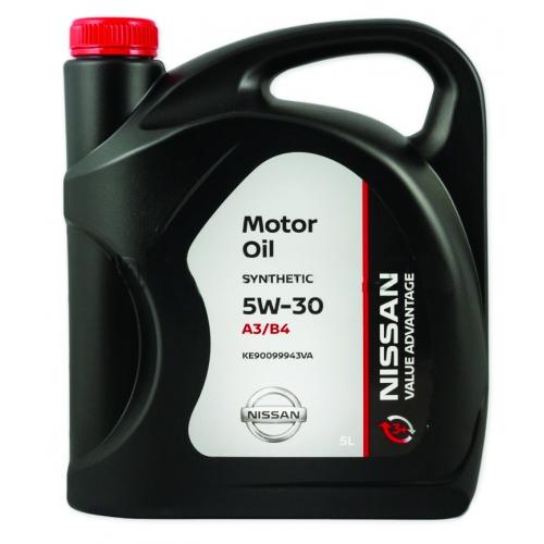 Масло NISSAN MOTOR OIL SAE 5W-40 VALUE ADVANTAGE 3+