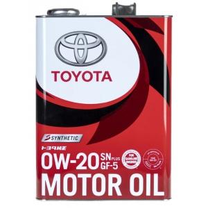 Масло моторное TOYOTA Motor Oil SN/GF-5 0W-20 4л 08880-12605