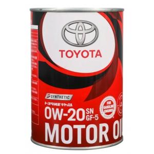 Моторное масло синтетическое  TOYOTA Motor Oil SN/GF-5 (Япония) 0W-20 1л (08880-12206) 08880-1