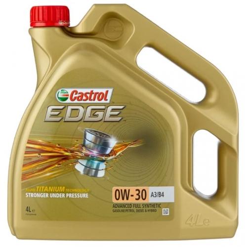 CASTROL EDGE 0W-30 A3/B4 СИНТЕТИЧЕСКОЕ, 4 Л