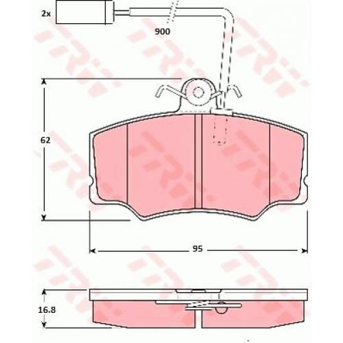 Колодки TRW GDB1045