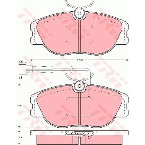 Колодки TRW GDB1052