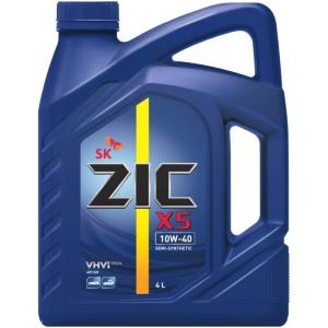Масло для легковых автомобилей, полусинтетическое ZIC X5 10W-40 (4л.)
